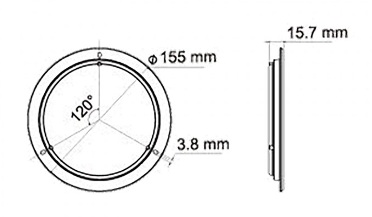 LED Touch-Switch Leuchte 12 V/24 V, 420 lm - IVT-Hirschau